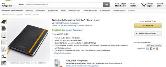 Amazon Notizbuch Shop ist gestartet